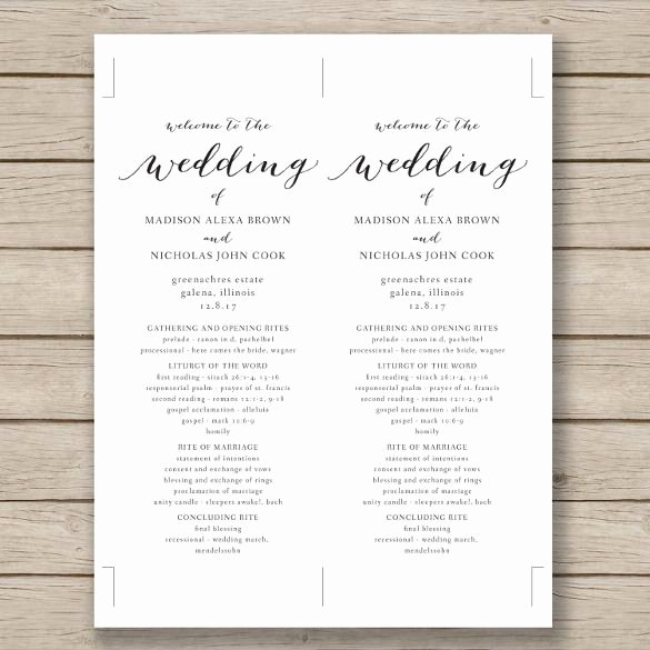 Wedding Program Template – 41 Free Word Pdf Psd