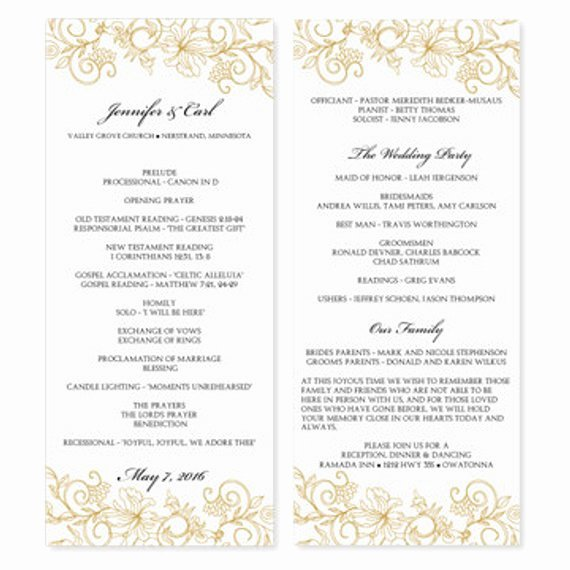 Wedding Program Template Download by Diyweddingtemplates