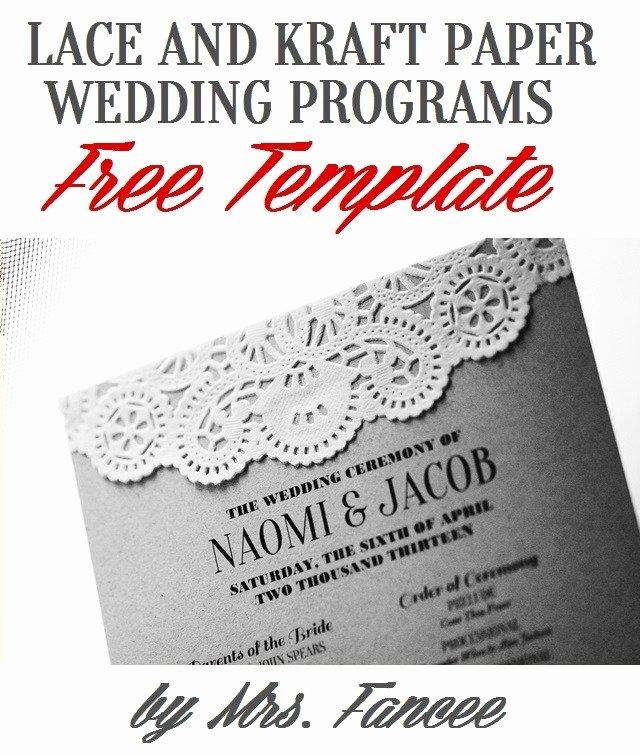 Wedding Program Template Mrs Fancee