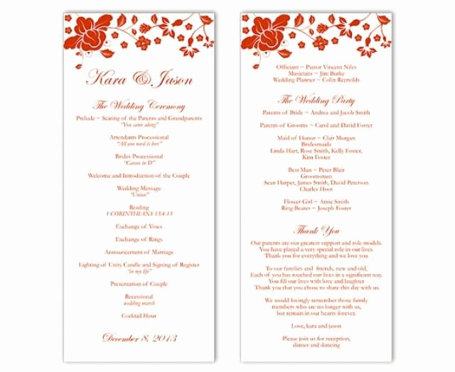 Wedding Program Template Ms Word Travelermanager