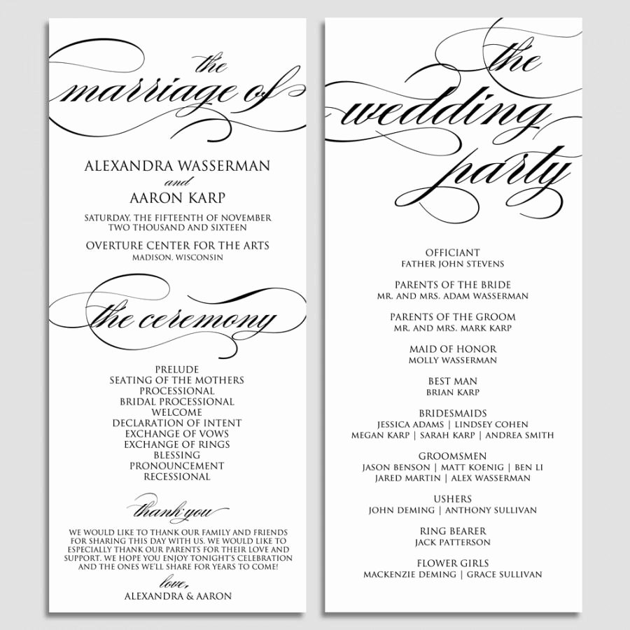 wedding program template wedding program printable ceremony printable template pdf instant script diy wbwd6