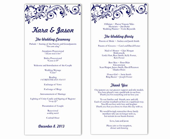 Wedding Program Template Word