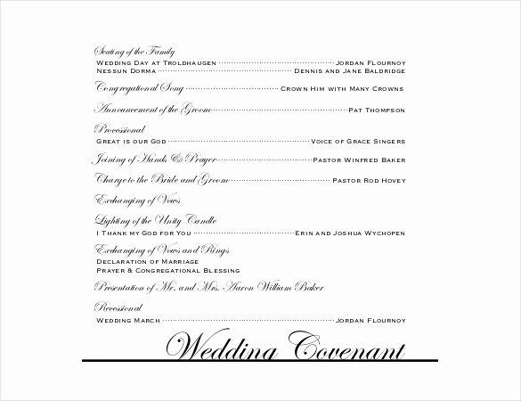 Wedding Program Templates – 15 Free Word Pdf Psd