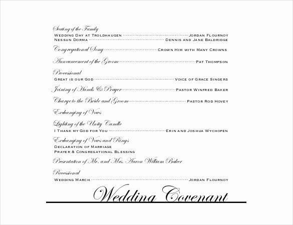 Wedding Program Templates – 15 Free Word Pdf Psd