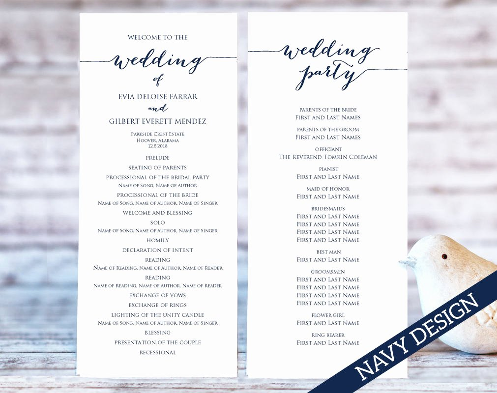 Wedding Program Templates · Wedding Templates and Printables