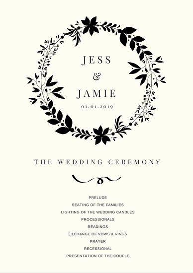 Wedding Program Templates Canva