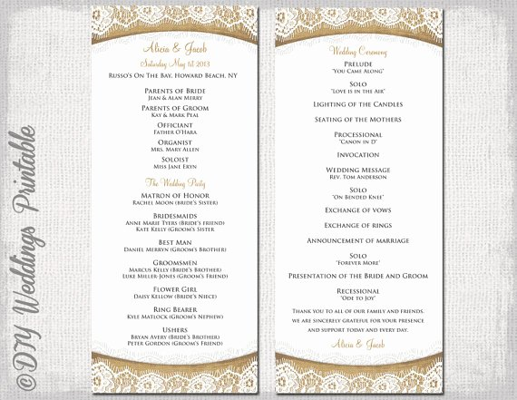 Wedding Program Templates Free Microsoft Word