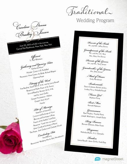 Wedding Program Wording