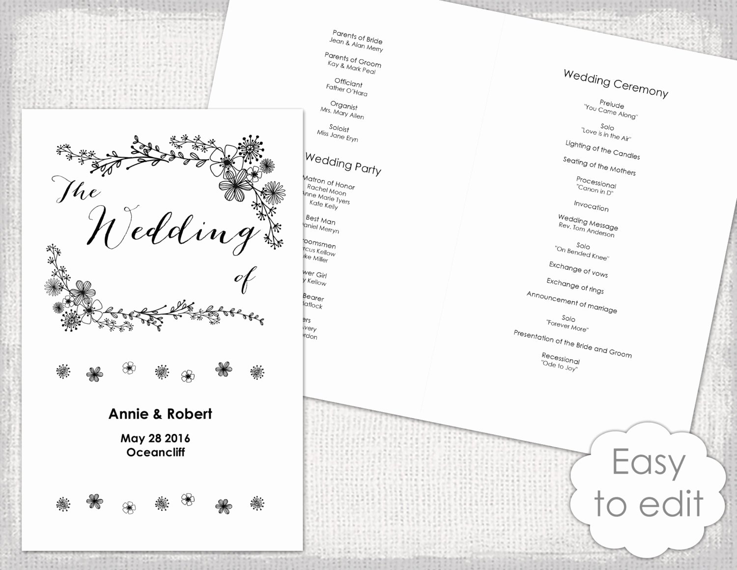Wedding Programs Booklet Template Full Version Free