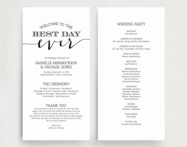 Wedding Programs Wedding Program Instant Download