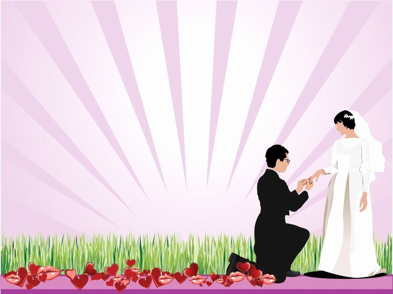 Wedding Proposing Powerpoint Templates Beauty & Fashion