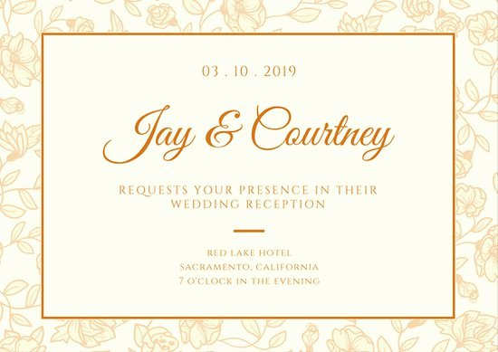 wedding reception card template reception invitation designs 26 wedding reception invitation templates free sample example 1
