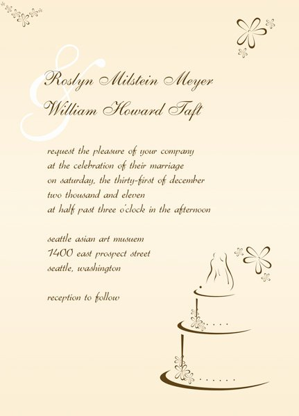Wedding Reception Invites Template