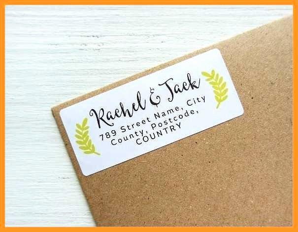 Wedding Return Address Labels Template Elegant 4 5 Free
