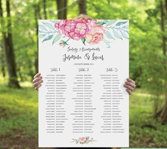 Wedding Round Table Seating Plan Template