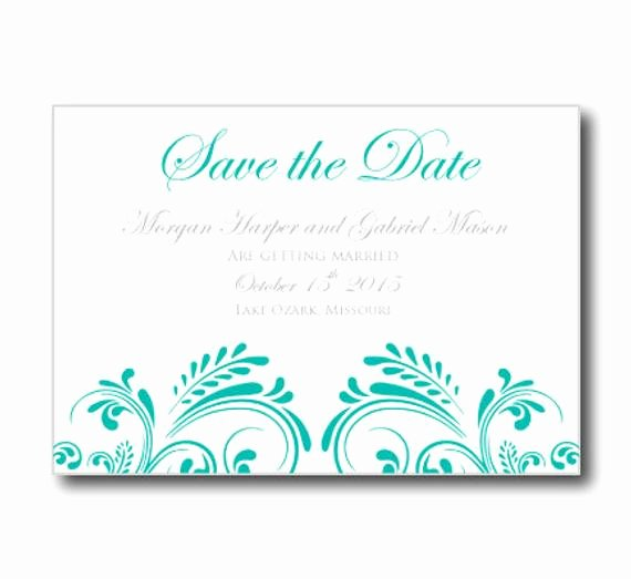 Wedding Save the Date Card Template Instant by Clearylane