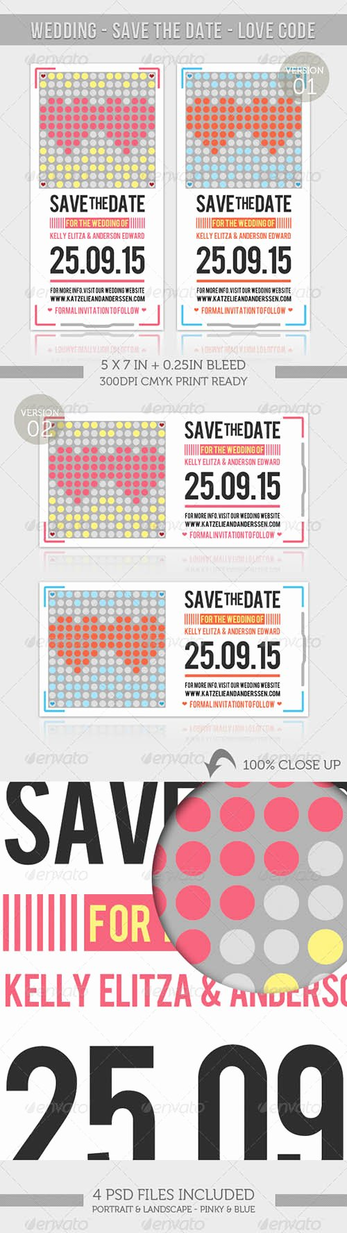Wedding Save the Date Love Code Herogfx