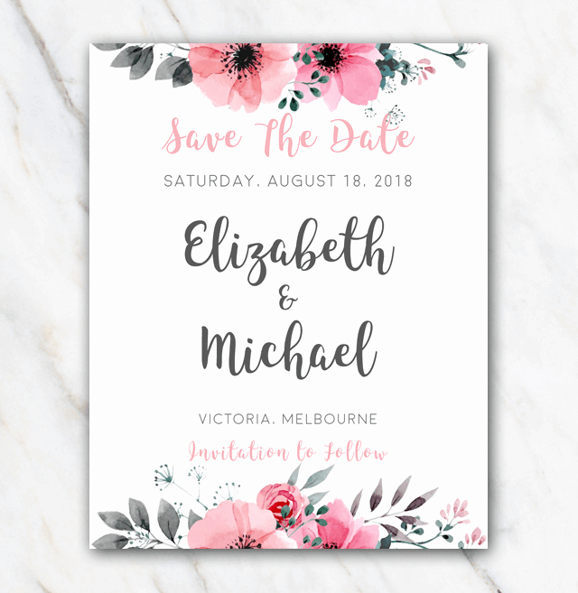Wedding Save the Date Template for Word