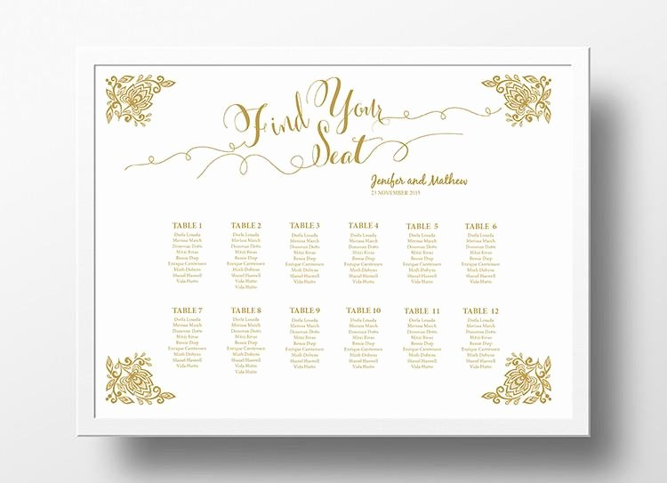 Wedding Seating Chart Poster Diy