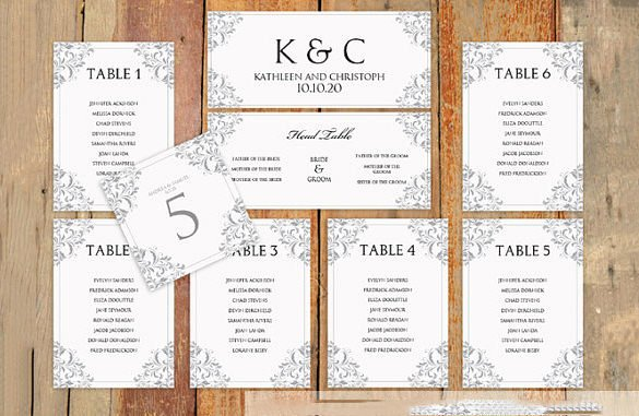 Wedding Seating Chart Template – 11 Free Sample Example