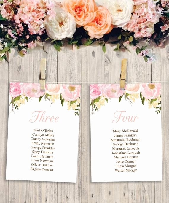 Wedding Seating Chart Template Diy by Creativeuniondesign