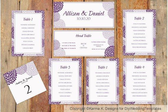 Wedding Seating Chart Template Download by Karmakweddings