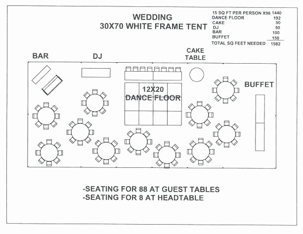 Wedding Seating Chart Template E with Experience