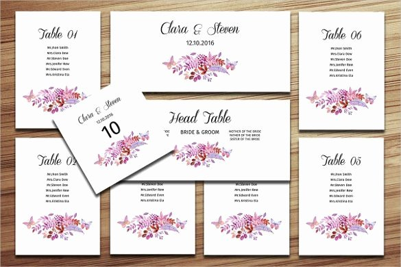 Wedding Seating Chart Template July 6 2017 2