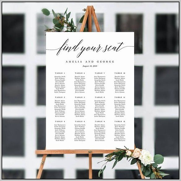 wedding seating plan template top table 6220