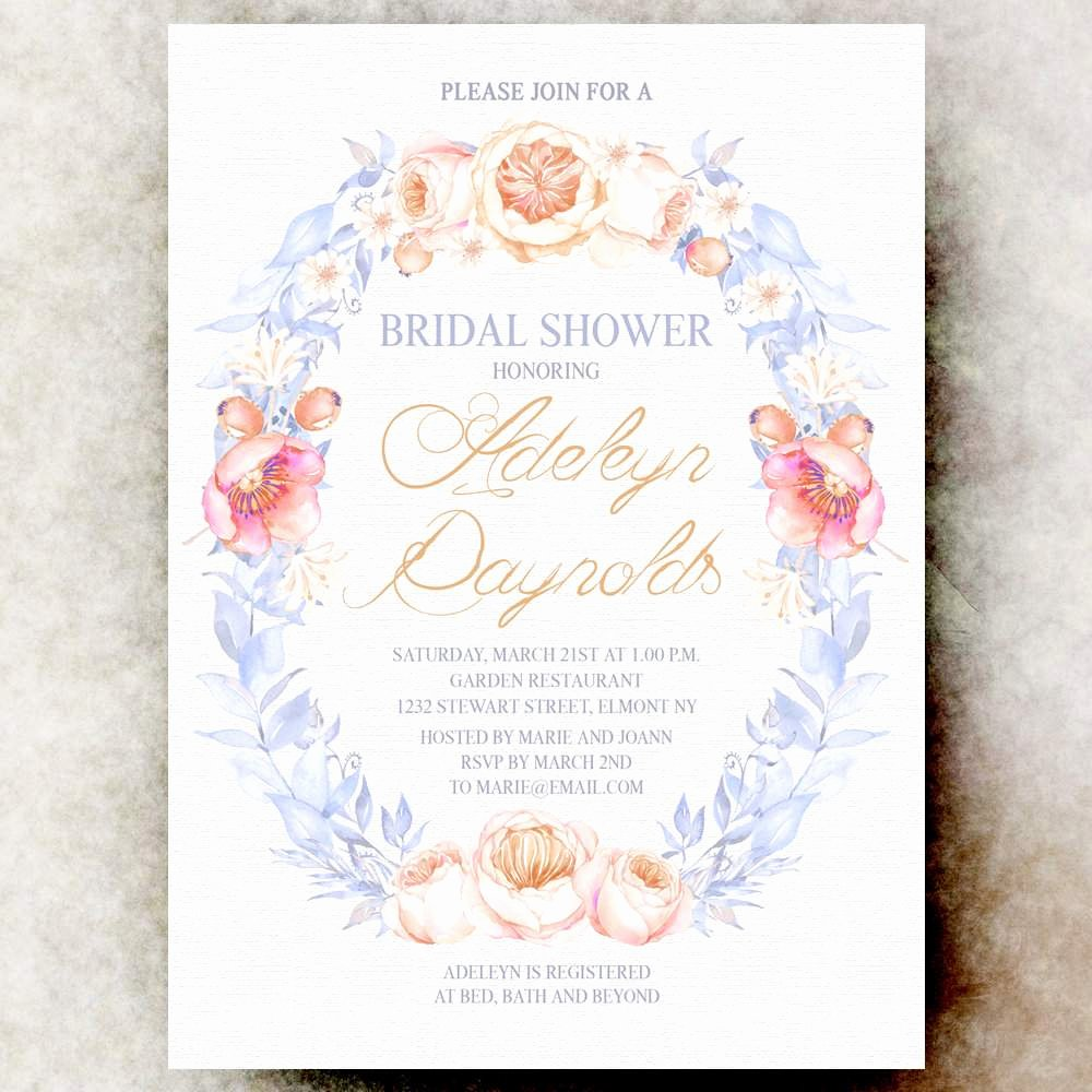 Wedding Shower Invitation Templates