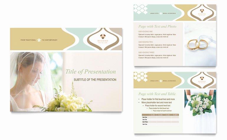 Wedding Store & Supplies Powerpoint Presentation