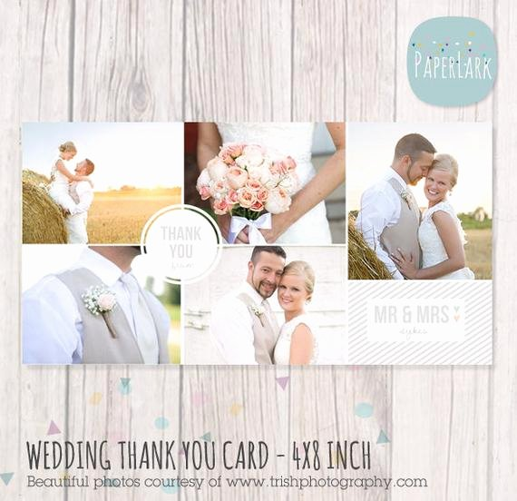 Wedding Thank You Card 4x8 Inch Shop Template Aw013