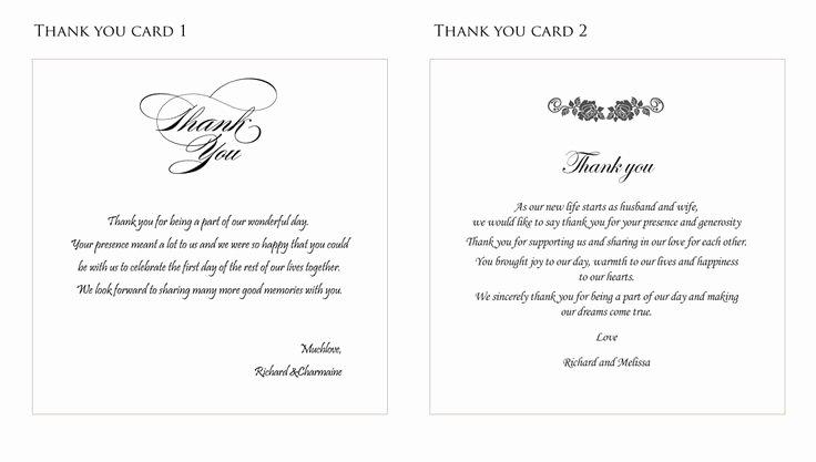 Wedding Thank You Card Ideas fortworthweddingmall