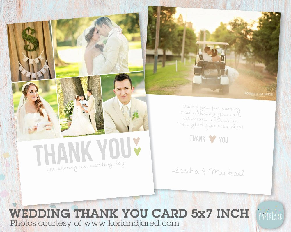 Wedding Thank You Card Shop Template Aw002 Instant