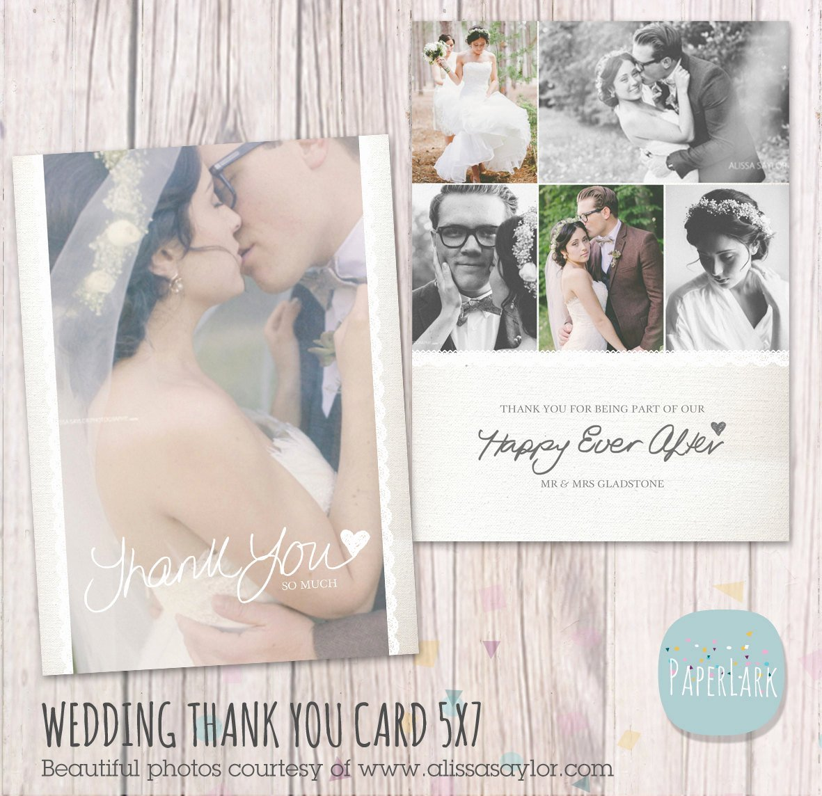 Wedding Thank You Card Shop Template Aw016 Instant