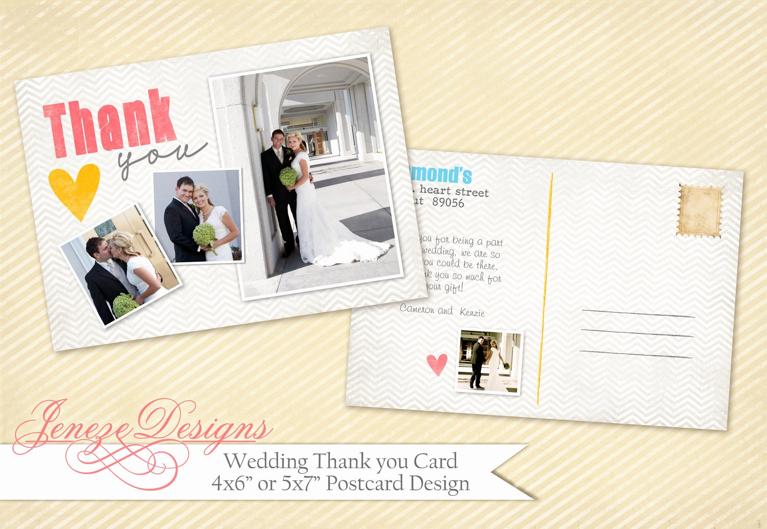 Wedding Thank You Card Shop Template Item Tc006 by Jeneze