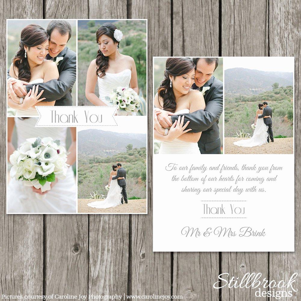Wedding Thank You Card Template Bridesmaid Thank You