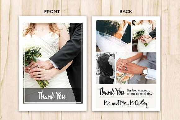 Wedding Thank You Card Template Flyer Templates