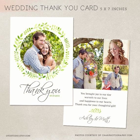 Wedding Thank You Card Template for Graphers Psd