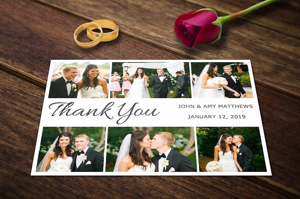 Wedding Thank You Card Templates Psd Invitation