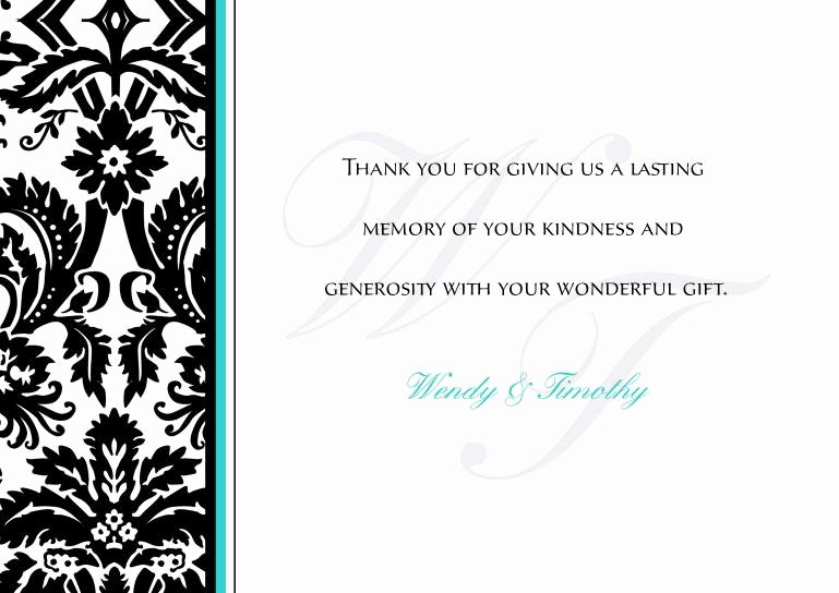 Wedding Thank You Cards Wedding Thank You Card Template