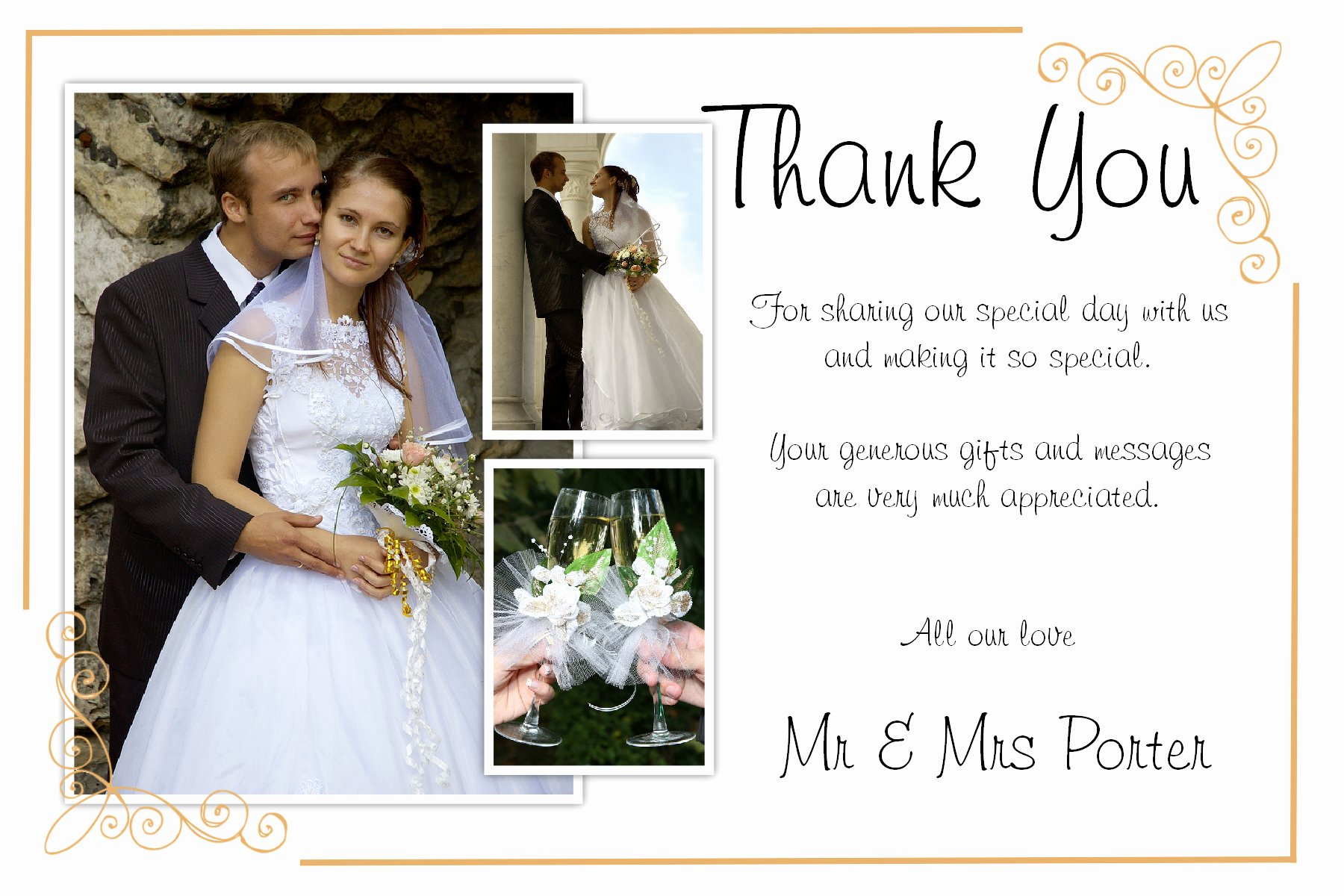Wedding Thank You Cards Wedding Thank You Cards with
