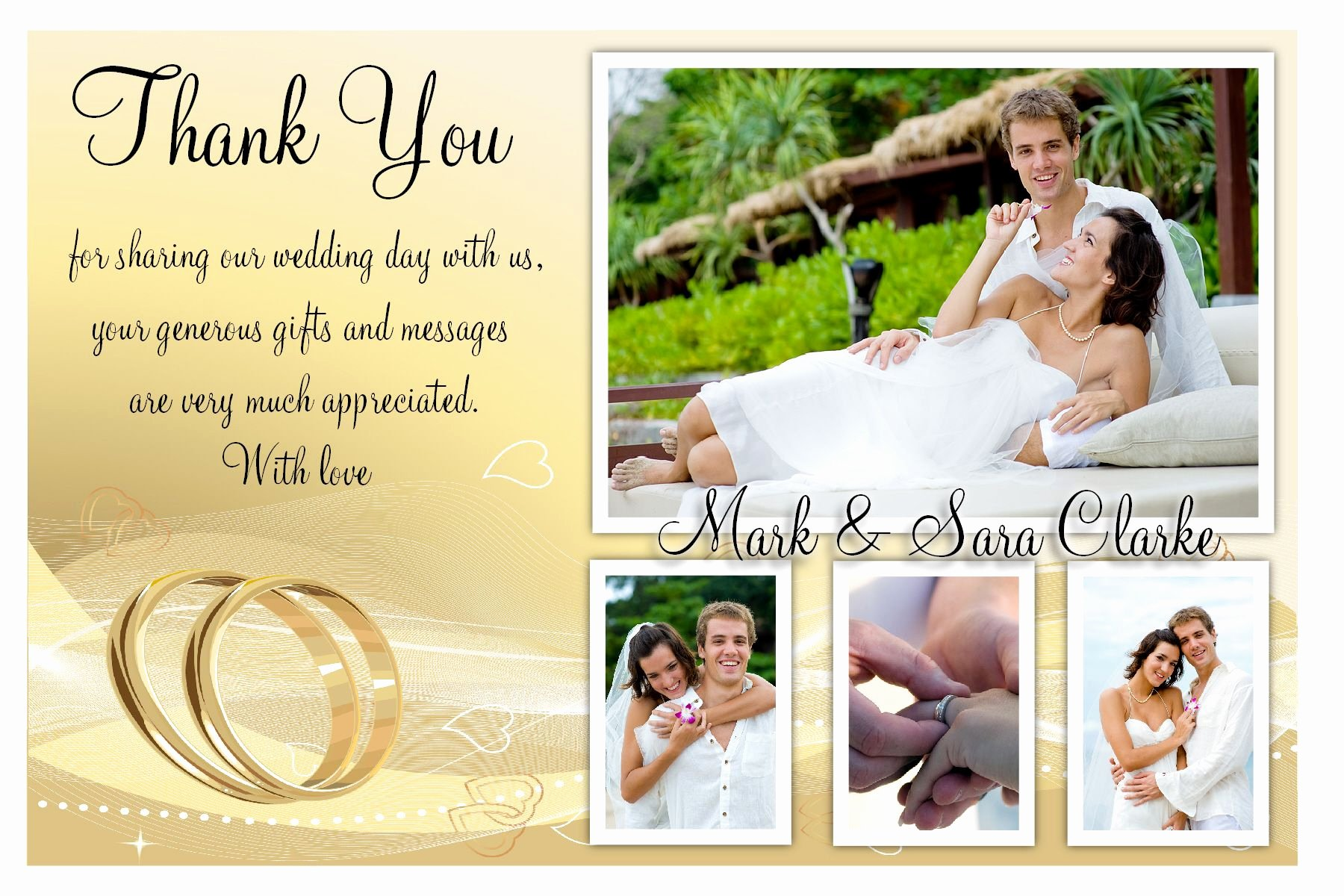 Wedding Thank You Cards What to Write On Wedding Thank