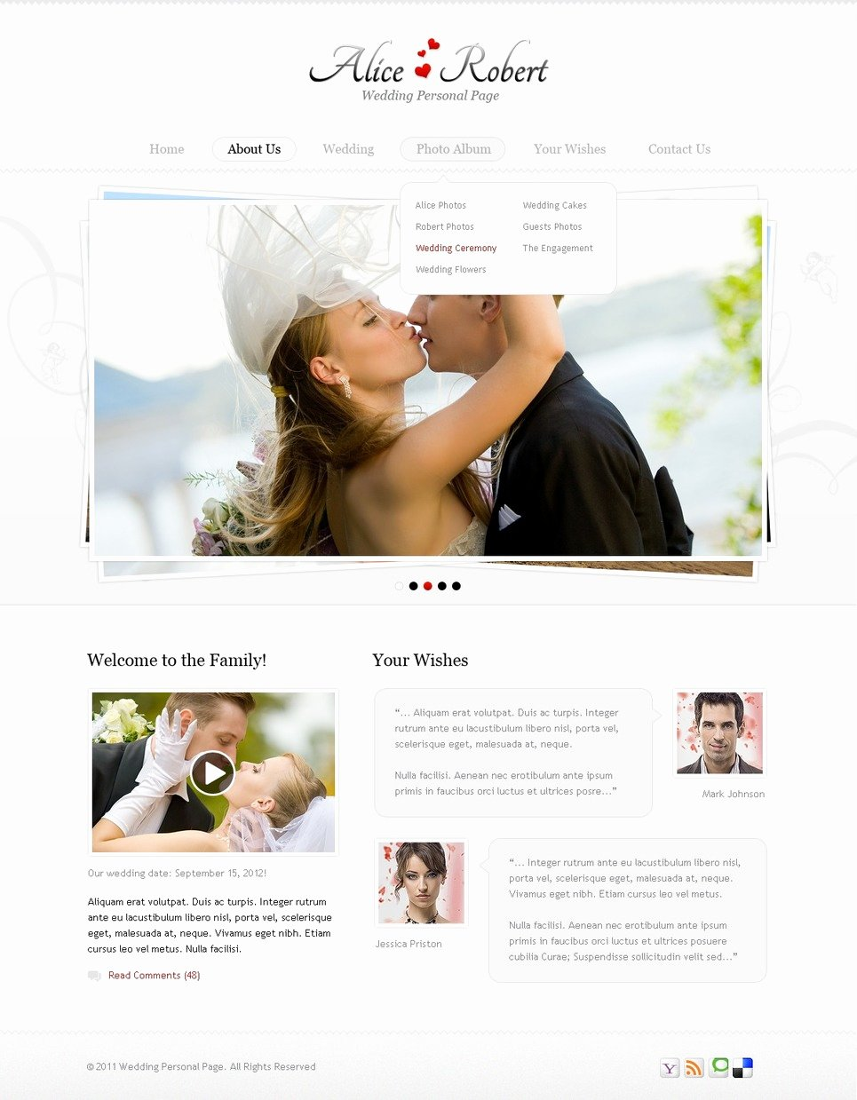 Wedding Website Template Web Design Templates Website