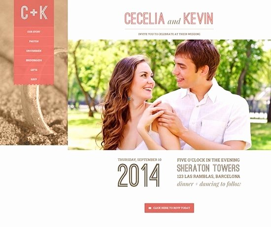Wedding Website Templates Beepmunk