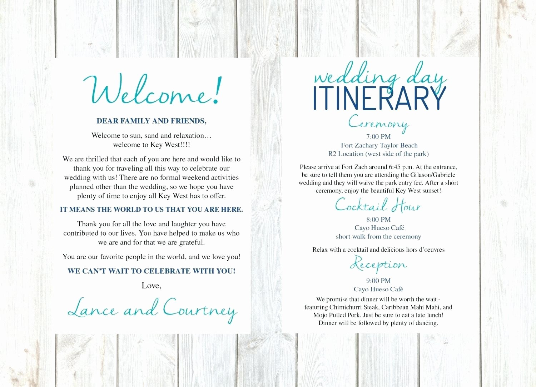 Wedding Wel E Bag Letter Template Free