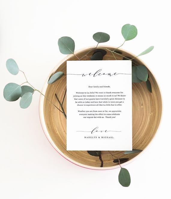 wedding wel e letter printable wel e