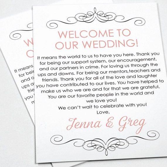 Wedding Wel E Letters Sample Letter Template