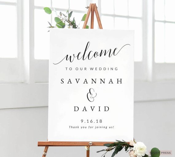 Wedding Wel E Sign Template Printable Wedding Wel E Sign
