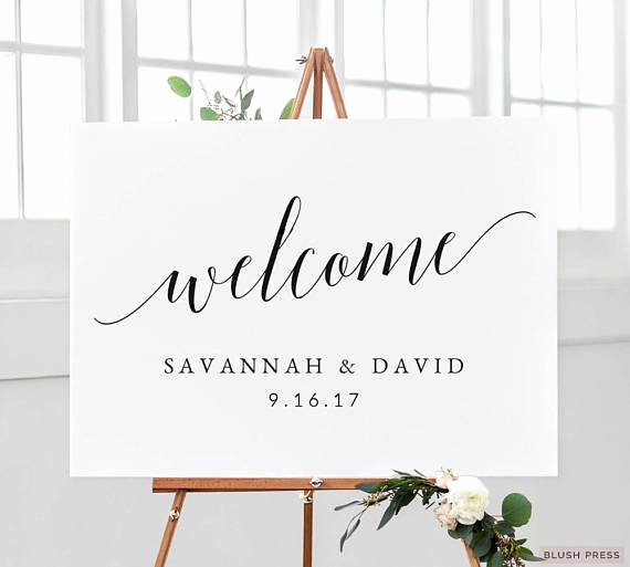 Wedding Wel E Sign Template Printable Wel E Wedding Sign